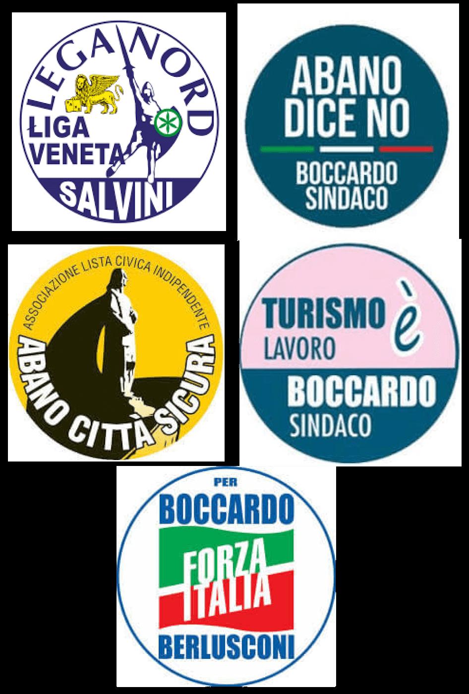 Lega Nord</br>Turismo è lavoro</br>Abano città sicura</br>Abano dice no</br>Forza Italia