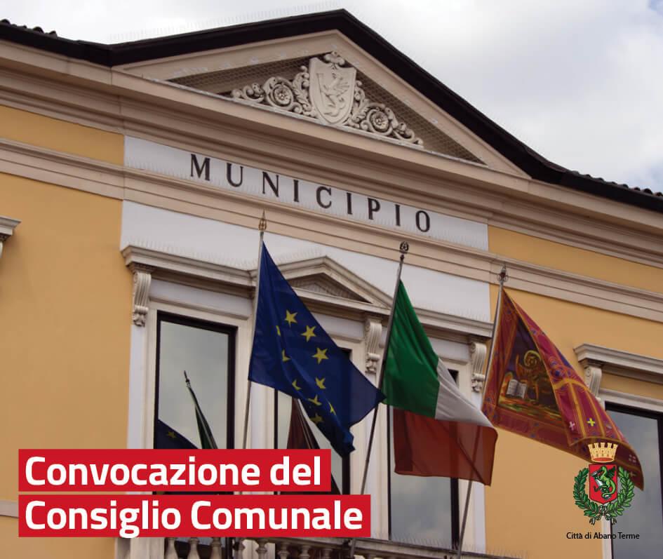 Convocazione Consiglio Comunale 29 marzo 2019