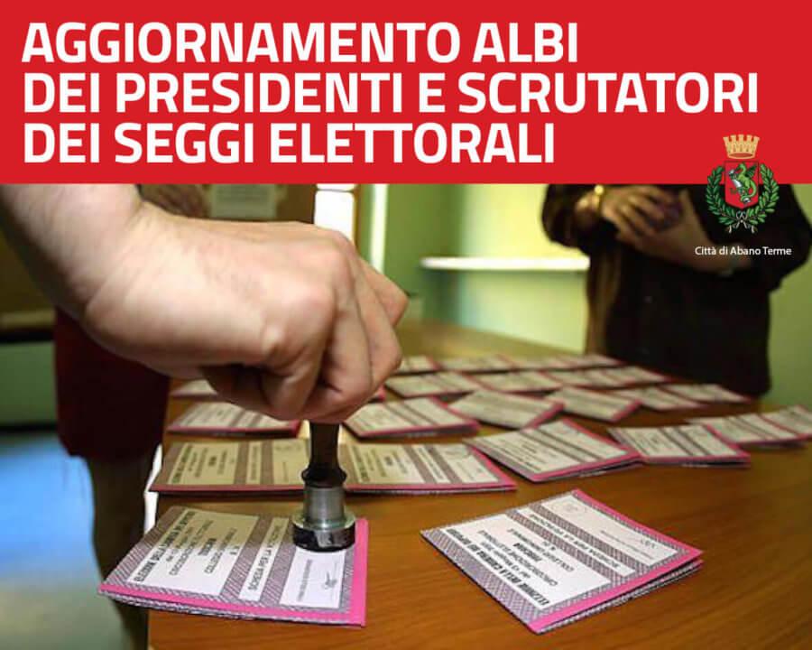 Aggiornamento albi componenti seggi elettorali