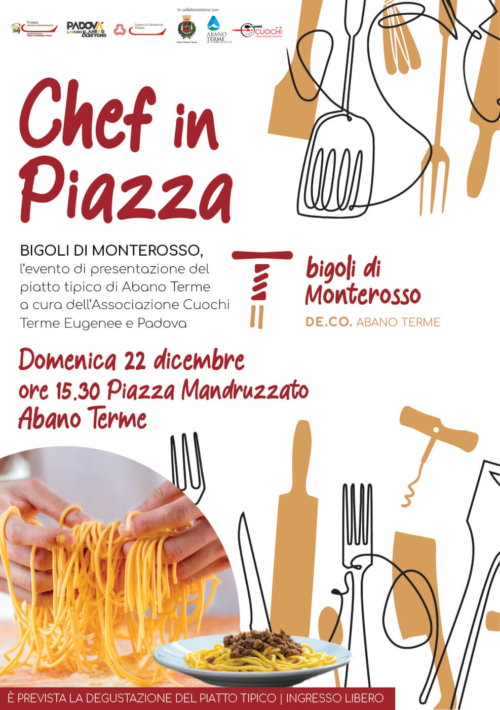 Chef in Piazza, domenica 22 dicembre