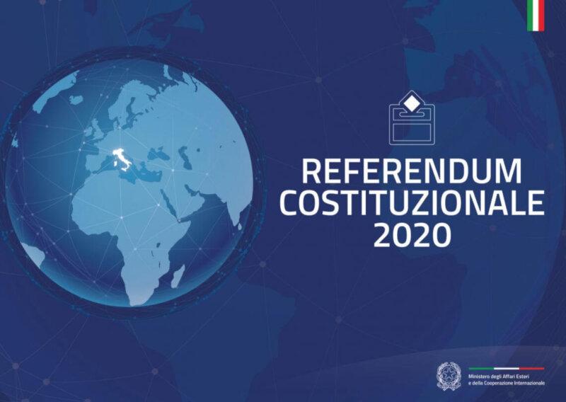 Referendum Costituzionale 2020, voto dall'estero