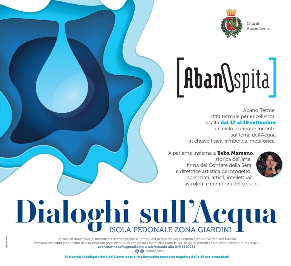 DIALOGHI SULL'ACQUA – DAL 17 AL 19 SETTEMBRE