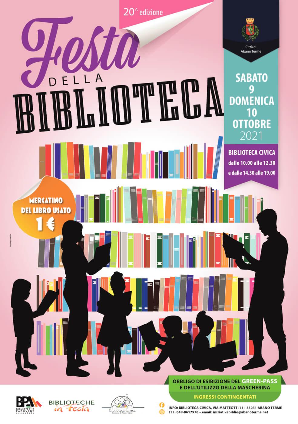 XX FESTA DELLA BIBLIOTECA ABANO TERME